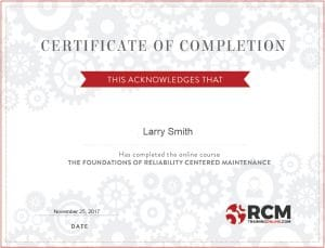RCM Certificate of Completion 2