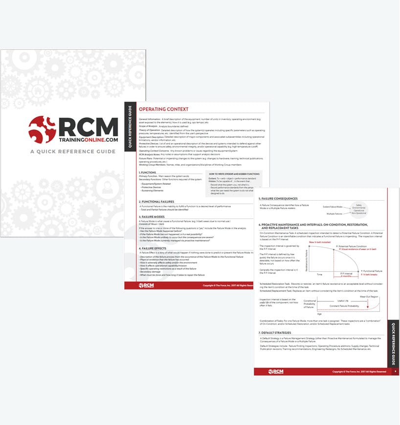 RCM Quick Reference Guide